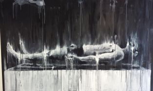Slab (2015) Oil and acrylic on board, 100x200cm