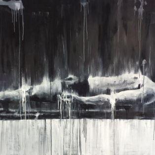 Slab (2015) Oil and acrylic on board, 100x200cm