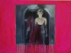 You loved me at my darkness 1 oil and acrylic on canvas 80 cm x 125cm