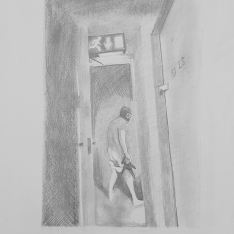 Pencil study on A2 paper
